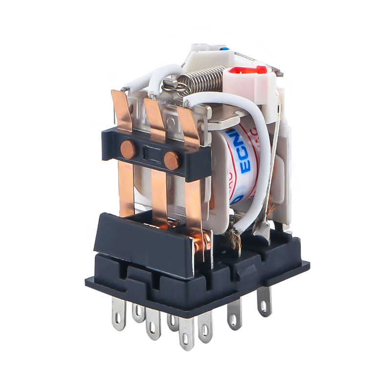 HH53P MY3NJ Micro Mini relais électromagnétiques ca 220V AC 110V cc 24V cc 12V 5A relais de puissance argent Contacts 11 broches LED