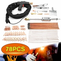 78pcs Car Dent Puller Welder Kit Car Body Spot Dent Repair Removal Device Stud Welding G u n Tool with 195cm Cable