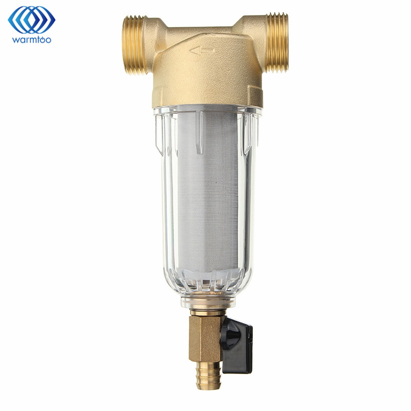 Purification Part Pre-filter In Water Filter Brass Siphon Backwash Water Purifier Washable 3/4