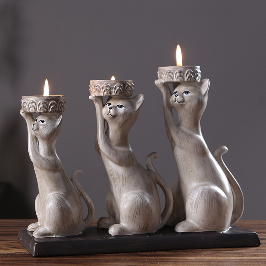 Rustic Wooden Candle Holders Wedding Centerpiece Candlestick Moro Decor Mumluk Cat Creative Tealight Lighthouse Candy Bar WZF207