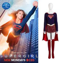 MANLUYUNXIAO Supergirl Costume Women Halloween Cosplay Costumes For Full Set Custom Made Free Shipping