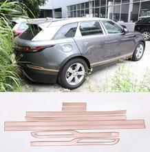 Piano Black ABS Car Side Door Decoration Strips Cover Trim For Land Rover Range Velar 2018 Accessories 8pcs/set