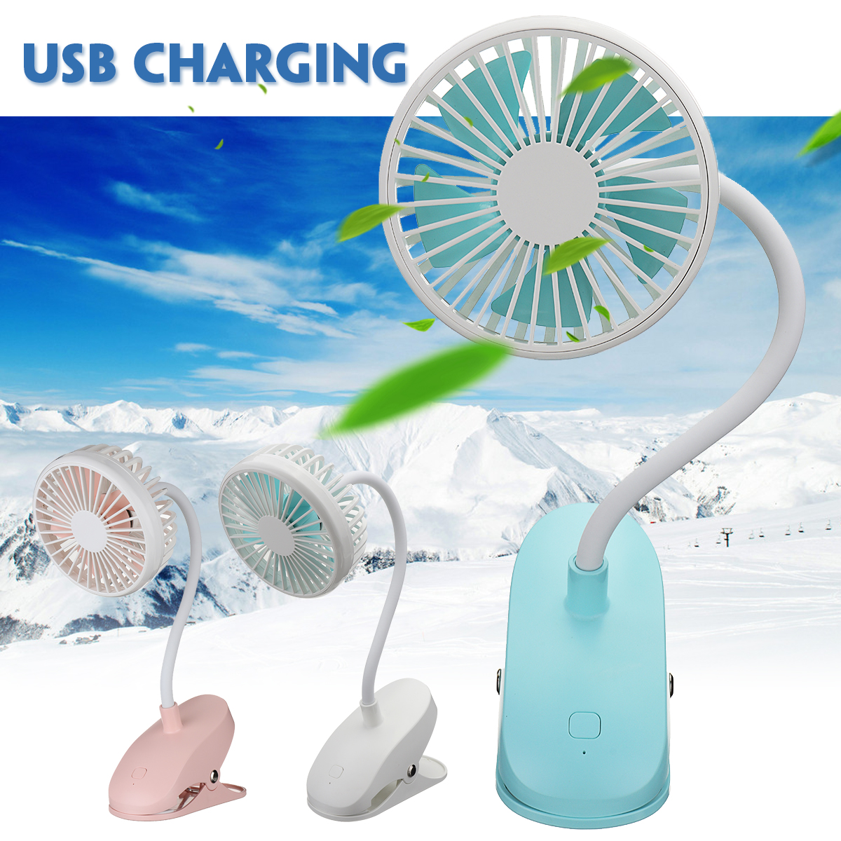 1Pcs Portable USB Rechargeable Electric Fan 5V 5W Table Desk Clip Fans 360 degree Adjustable Cooler Air Conditioner Fans 3 type air cooling clip fan or 360 degree rotating 2 gears adjustable car fan or suction cup adsorption fans