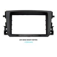 Seicane Black Double Din Car Radio Fascia Dash Panel Frame for 2011 Mercedes BENZ SMART FORTWO stereo Cover Trim Installation