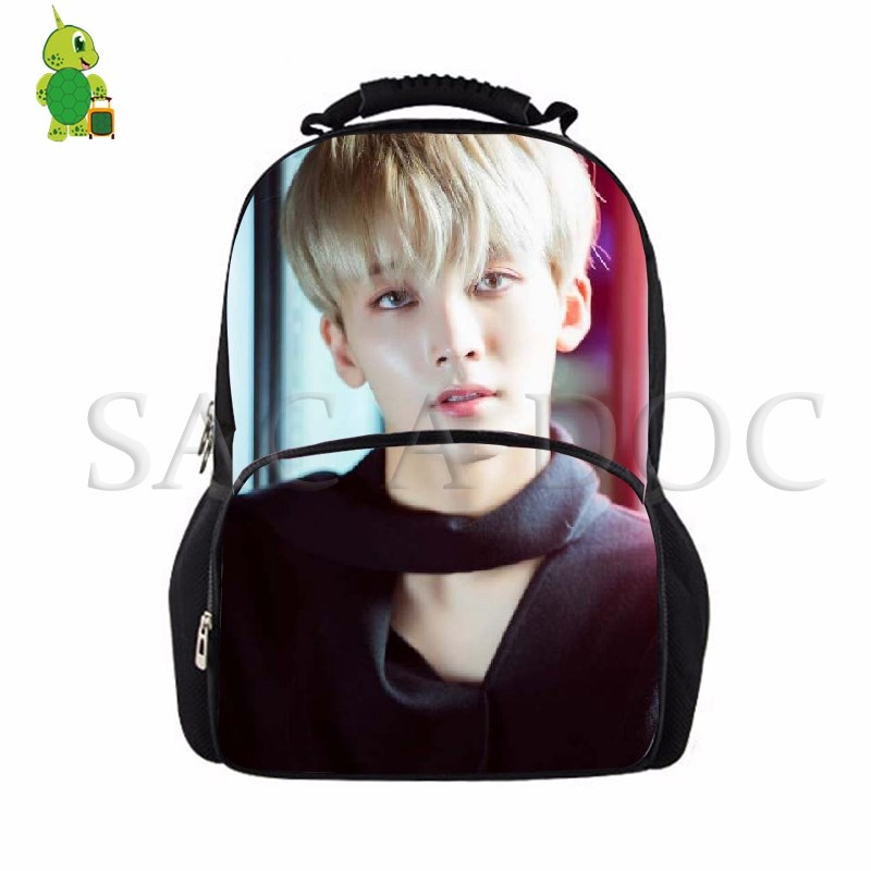 Backpacks Seventeen Korean Backpack College Students School Bags Women Men Large Laptop Backpack Idol Wonwoo/woozi/dk Casual Travel Bags Vivid And Great In Style Men's Bags