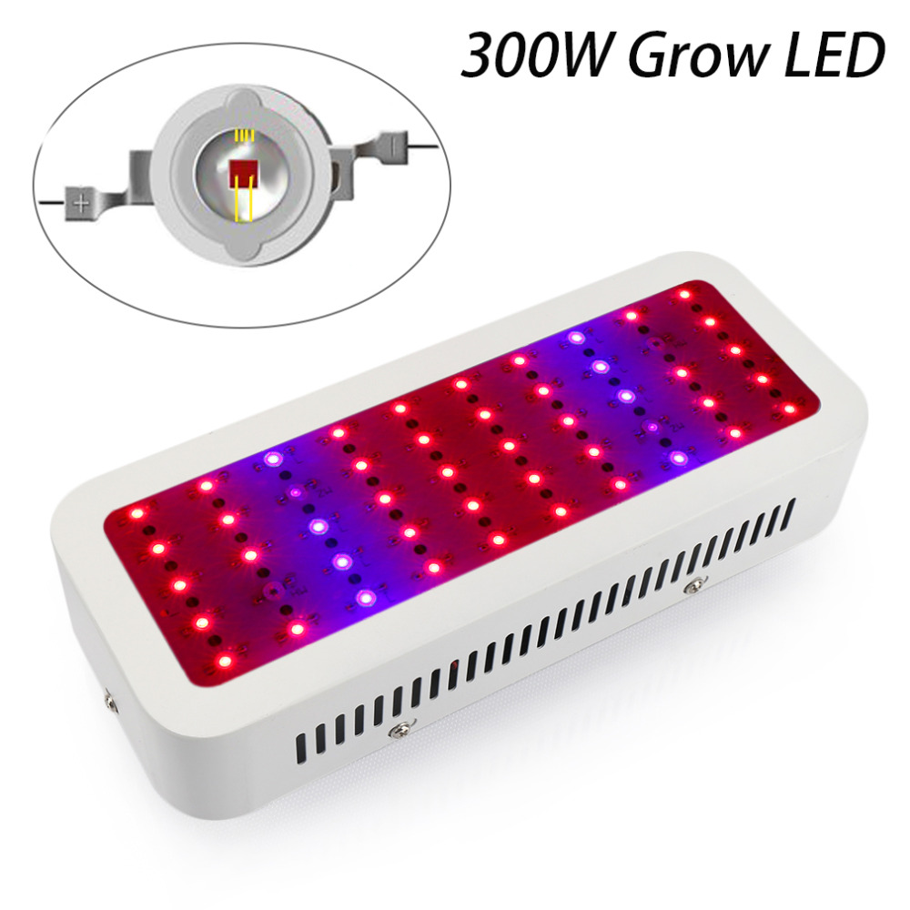 1pcs Mini Full Spectrum LED 300W Led Grow Light with 50LEDs Red Blue UV IR Plant Growing Lamp for Flower Vegetables wholesale 300w high power led grow light red blue uv ir for hydroponics greenhouse grow tent 300w plant lamp free shipping
