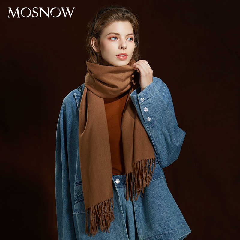 74001d66d Winter Large Tassel Scarf 180cm*65cm 23 Colors Wool Knitted Scarves 2019  Autumn 100%