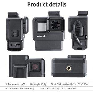 Image 3 - 울란 지 V2 프로 V3 프로 Gopro Vlog 케이스 케이지 52 미리 메터 필터 마이크 어댑터 렌즈 후드 Vlogging 케이스 Gopro 7 6 5