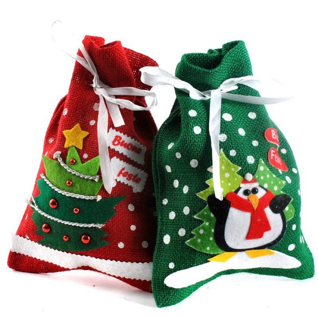 Aliexpress.com : Buy 2014 Xmas Christmas Gift Presents Candy Bag ...