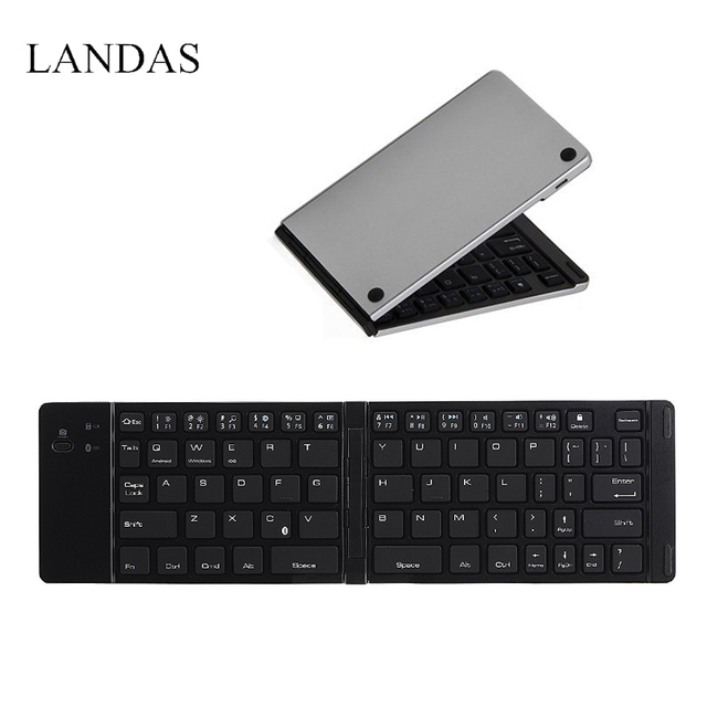 08306b5b3c3 Landas Foldable Keyboard Wireless For Phone Pocket Folding Bluetooth  Wireless Keyboard PC For Android Sumsang Desktop Computer