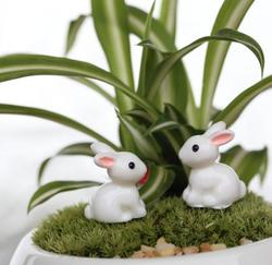 Wholesale 50 pieces cute rabbit animal toadstool miniature fairy garden ornament home decor.jpg 250x250