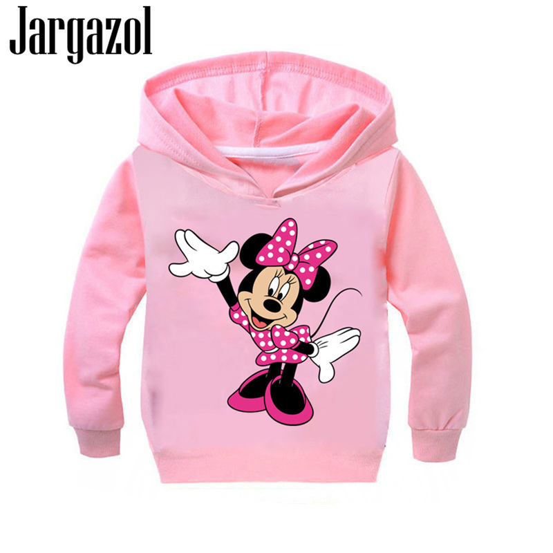 Child Sweatshirt Girls Hoodies Kids Cartoon Mickey Minne Printed Autumn Boys Hoodies Teenage Girl Clothing Vetement Enfant Fille(China)