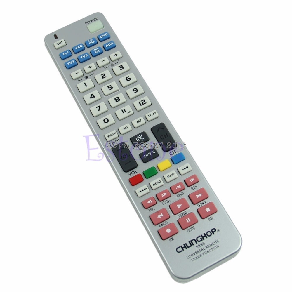 Universal 8 in 1 Remote Control Controller Learn Function For TV CBL VCR SAT DVD Z09 Drop ship universal remote control for tv vcr sat cable vcd dvd ld cd amp 2 aa