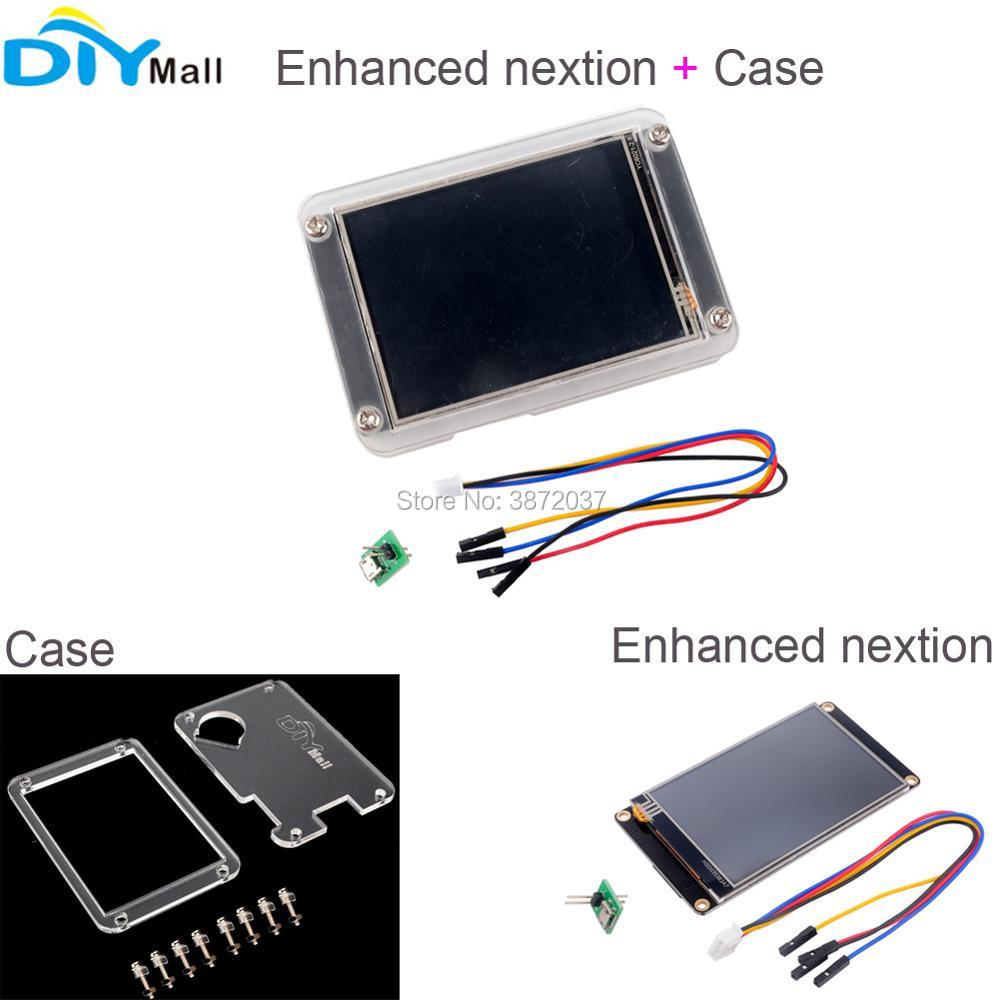 "Acrylic Plastic Transparent Clear Case Enhanced Nextion HMI Touch LCD HMI Display 2.4"" 2.8"" 3.2"" 3.5"" 4.3"" 5.0"" 7.0inch"