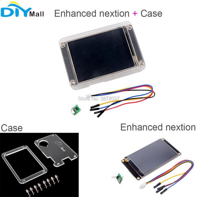 "Enhanced Nextion HMI Touch LCD HMI Display 2.4"" 2.8"" 3.2"" 3.5"" 4.3"" 5.0"" 7.0inch + Acrylic Plastic Transparent Clear Black Case"