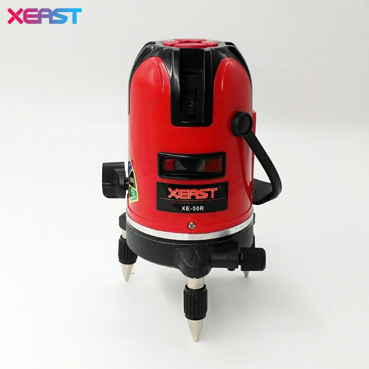 ФОТО XEAST XE-50R slash functional Red beam 5 cross lines 6 points auto-leveling 360 degree rotary Laser Level better than Mtian