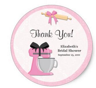 38cm kitchen bridal shower thank you stickers in stickers from home garden on aliexpresscom alibaba group