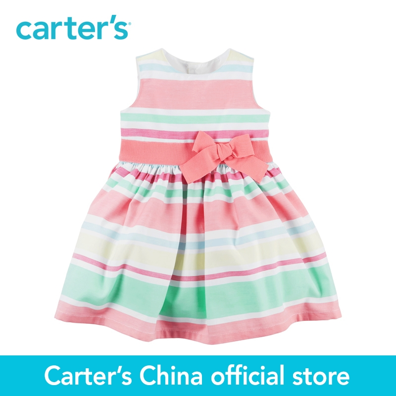Carter's 1pcs baby children kids Sateen Striped Dress 251G346,sold by Carter's China official store carter s 1 pcs baby children kids long sleeve embroidered lace tee 253g688 sold by carter s china official store