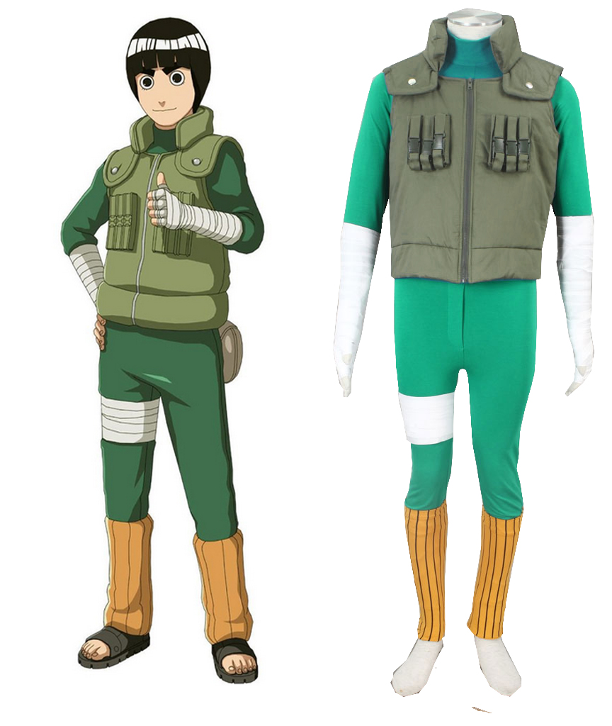 S-3XL Cartoon Anime Naruto: Shippuden Cos Rock Lee Halloween Harajuku Anime Man Female Cosplay Costume