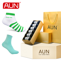 Socks for All Family Deodorant and Soft Free Shipping Five Boxes Cotton Polyamide Spandex Casual Socks AUN DLB001