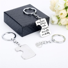Dad Daughter Mother Pendant Necklace 3pcs Keychain Family Mother's Day Father's Day Keyring Gift Jewelry Father Mom Necklaces