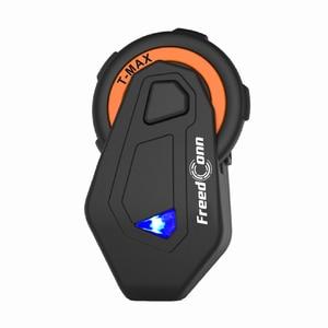 Image 2 - Freedconn T max Motorrad Bluetooth Headset Intercom Helm Bluetooth 4,1 6 Fahrer Gruppe Reden FM Radio + Weiche Hörer