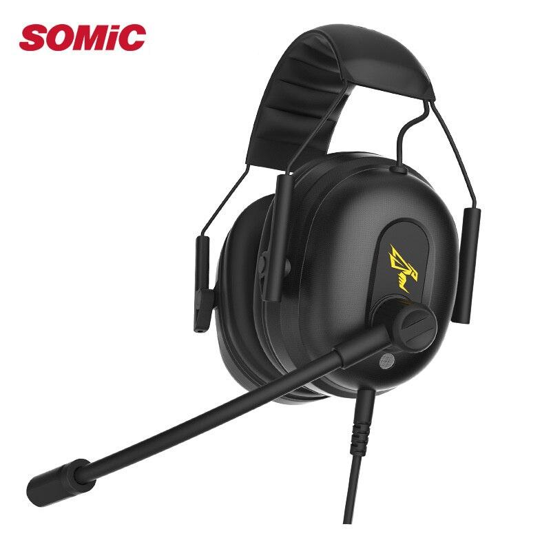 SOMIC G936 USB Filaire Gaming Casque 7.1 Virtuel avec Microphone Casques pour PC pour PS4 ENC Antibruit Interrupteur Multimode