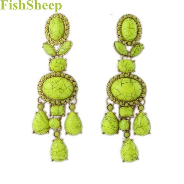 Fashion 2017 AliExpress Statement Long Earrings With Stone Bohemian Crystal Pendant Drop Earring Boucle D'oreille Femme Bijoux