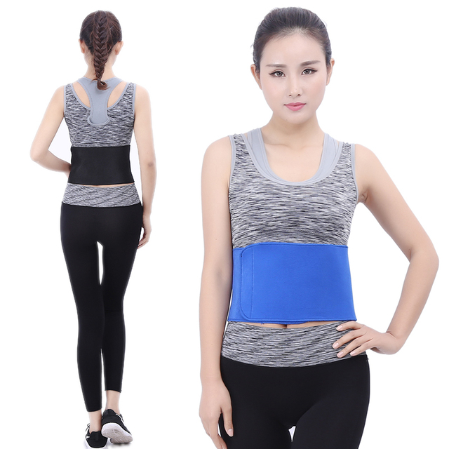 TJ-Tianjun New Waist Trimmer Belt Sweat Wrap Tummy Stomach Weight Loss Fat Slimming Exercise Belly Body Beauty Waist Support 4