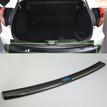 New Products Plastic Rear Bumper Foot Plate For HONDA  2015 VEZEL/HR-V  Car Protective car body kits plastic rear bumper foot plate car sticker for toyota vios 2017
