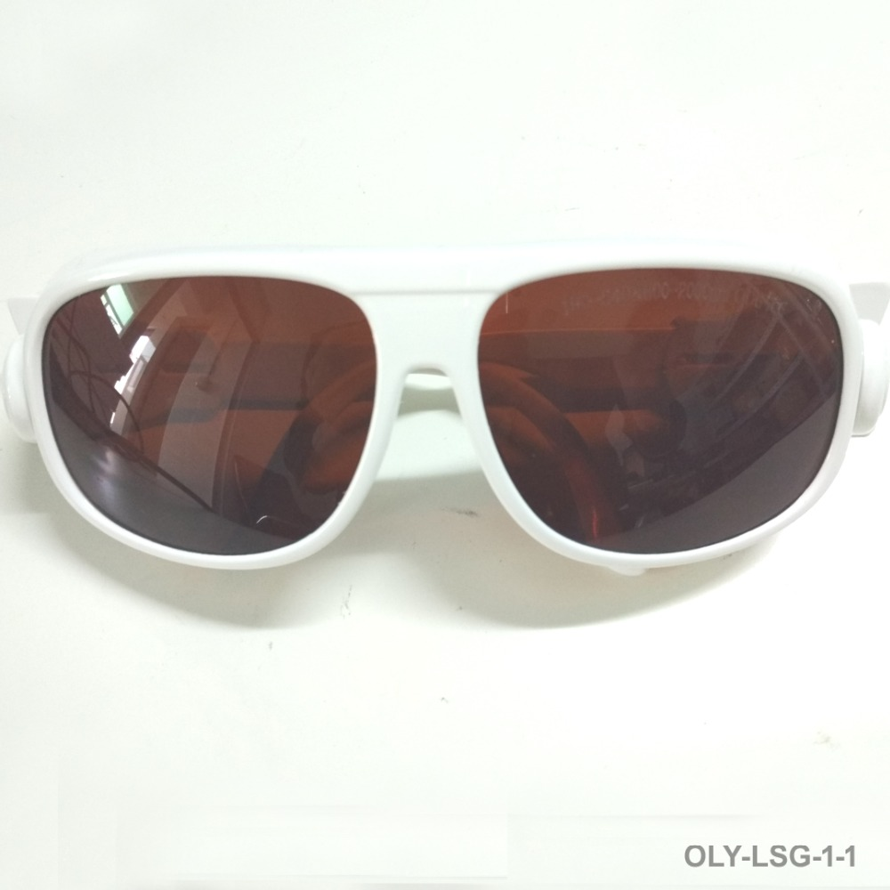 Laser safety glasses with O D 6 For 190 540nm and 800 1700nm 266 405 445