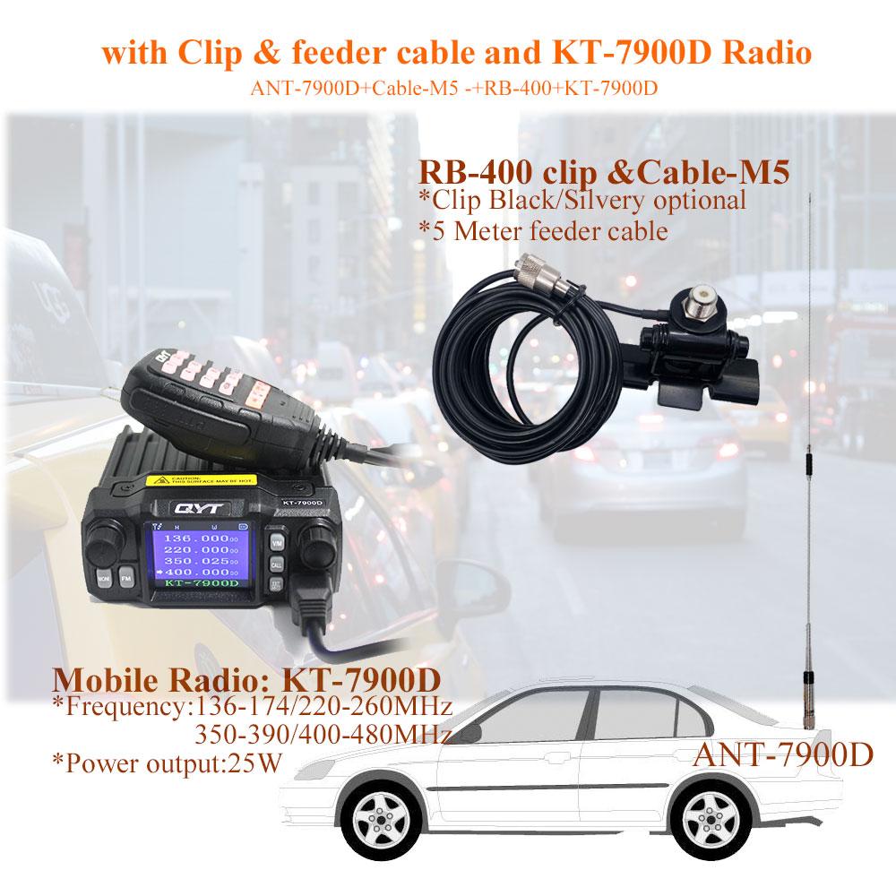 Mobile Radio Quad Band Antenna 144//220//350//440MHz for QYT KT-7900D Car Mobile M5