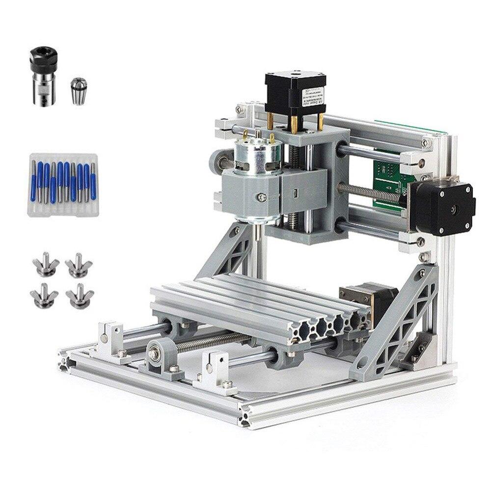 CNC Machine 1610 Mini CNC Machine de Gravure Bois Routeur avec ER11 10 pièces lame 4 pièces clip GRBL contrôle 3 Essieux fraiseuse pcb