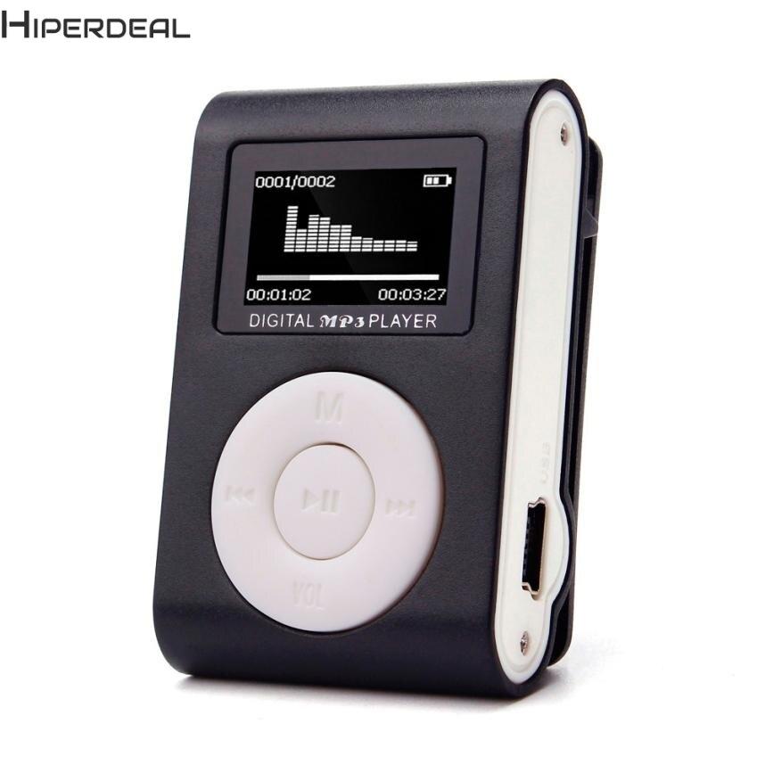 Hiperdeal Mini USB Клип MP3-плееры ЖК-дисплей Экран Поддержка 32 ГБ Micro SD карты памяти Hot 17dec13 Прямая поставка