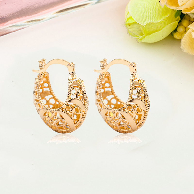 Cheap Price Accessories Pretty Creative Popular Earrings Special Trendy Classical Woven U Shape Hollow Unique Elegant Simple Charm