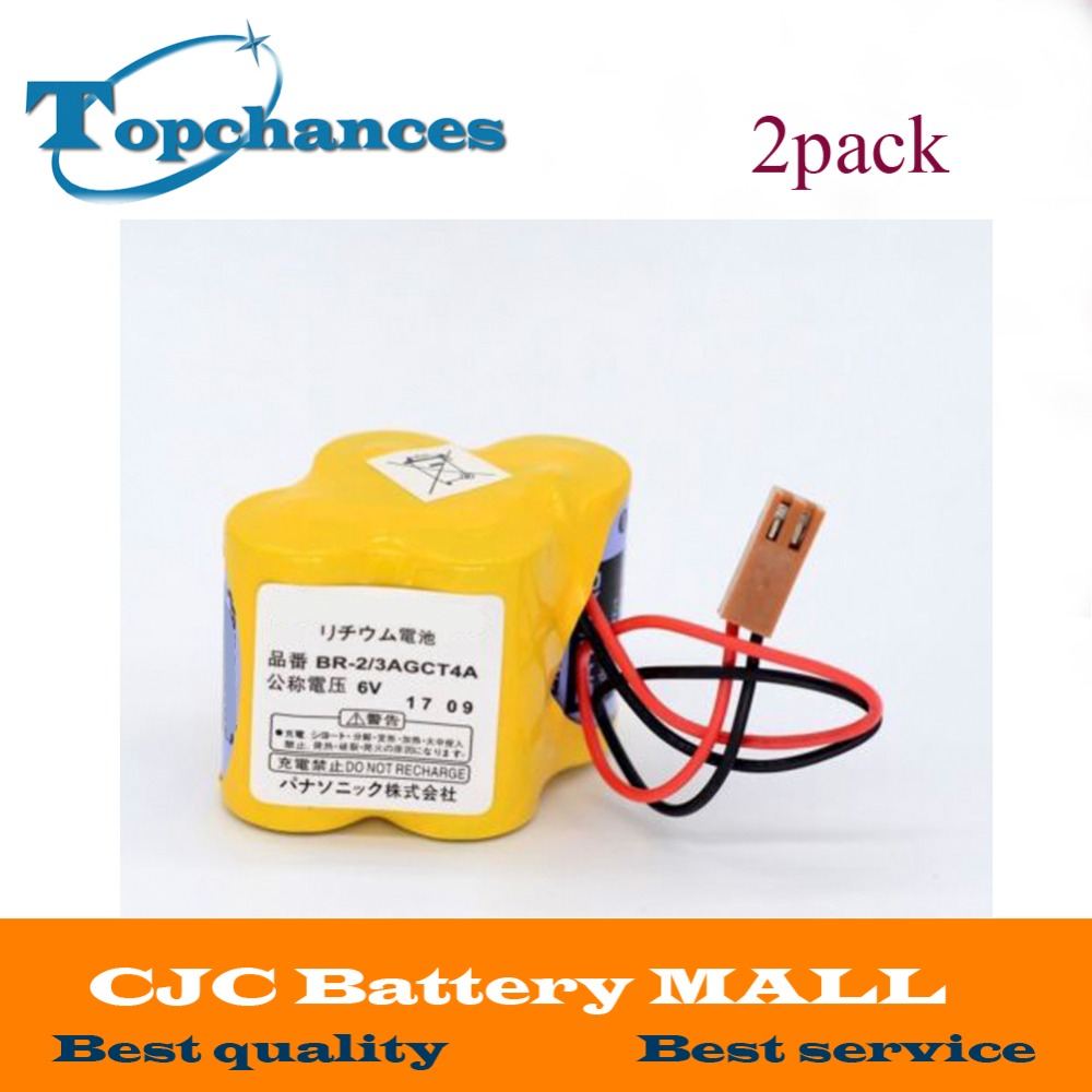 2PCS High Quality Newest BR-2/3AGCT4A 6V Battery PLC BR-2/3AGCT4A Li-ion Batteries With Plug