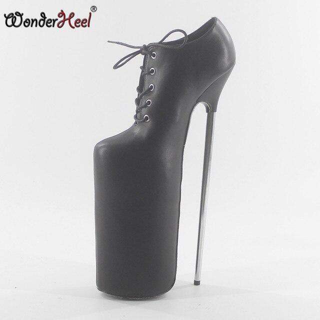 58e9932565b Wonderheel New sexy pump extreme high HEEL 30CM 12″ heel about 17cm ...