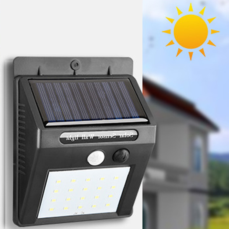 NEW 16LED Motion Sensor Outdoor Light Door Wall Solar-Powered Shed Outside Lamp