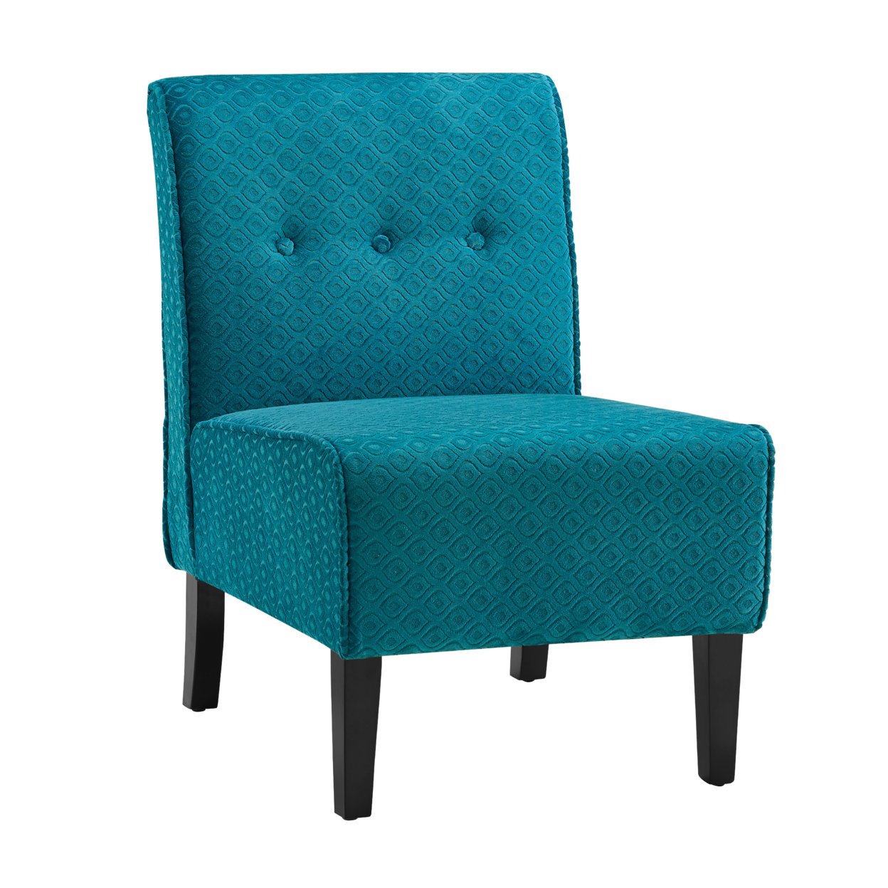 Coco Teal Blue Accent Chair anso contemporary teal color fabric accent chair