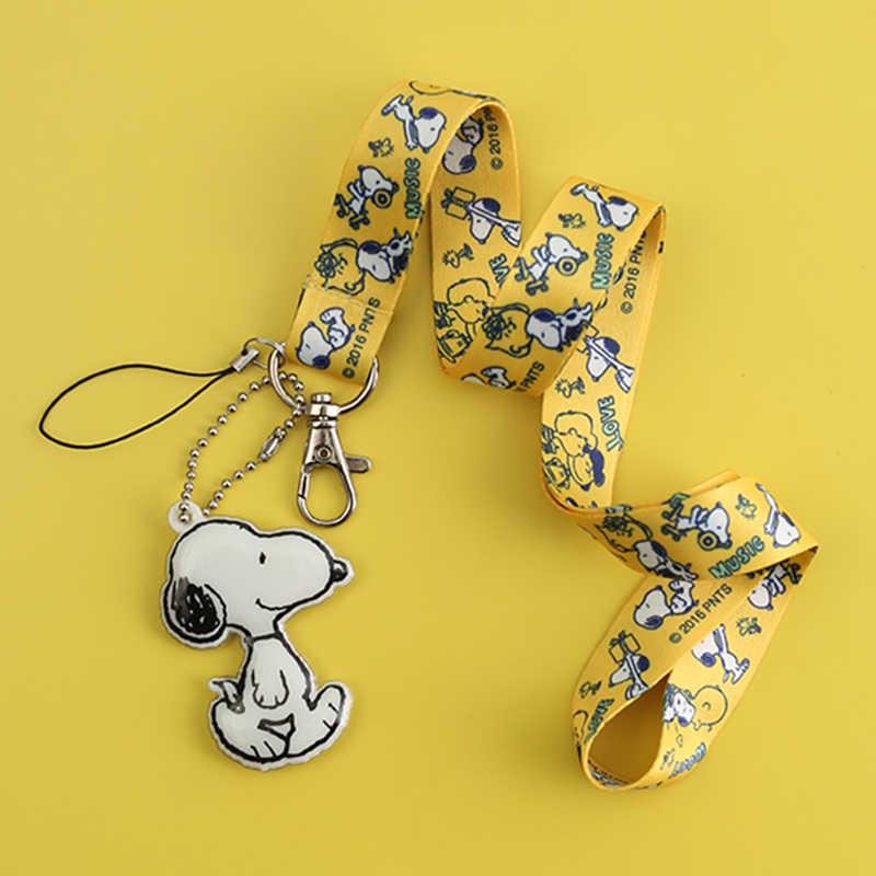 Cute Cartoon Printing Neck Strap Lanyards for iPhone Samsung Keys ID Card Mobile Phone Strap Hang Rope Phone Charm Badge Holder