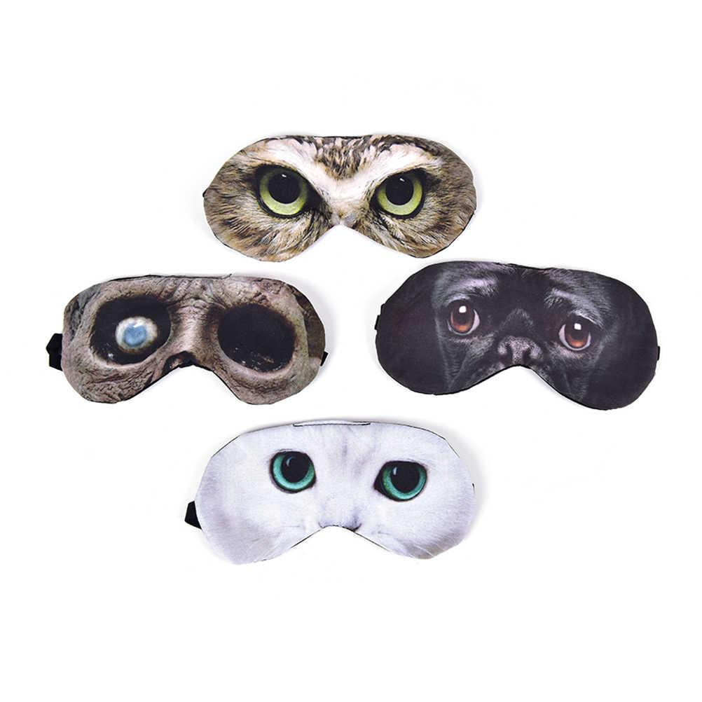 Bonito viagem 3d eyeshade gato sono máscara resto relaxar dormir ajuda venda gelo capa olho remendo dormir máscara caso cosplay eyepatch