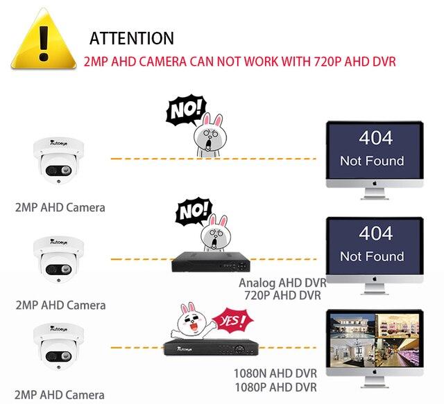 Autoeye AHD Camera 1080P Sony IMX323 2MP Video Surveillance Camera IR Night Vision 30M  Indoor Dome Camera Security CCTV Camera