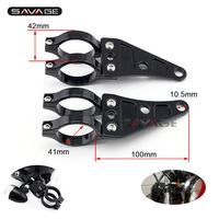 For 41mm Fork Motorcycle Headlight Mount Bracket Head Lamp Holder Motorbike Accessories