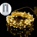 5 M 50 leds de Prata Fio de Cobre LED String Luzes Da Bateria AA Alimentado Decoração À Prova D' Água Com a Caixa de Controle Remoto para feriados