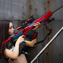 Plastic Safe Gel Ball Gun Weapon Pistol Manual Gunshot Kid Boys Gift Outdoor Game Toy Sniper Rifle For Children Christmas Gifts