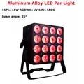 LED Par 16X18W RGBWA UV 6IN1 LED Flat Par Light Night Club Light Disco Dj Stage Lighting Effect LED Wash Light Dj Light Strobe