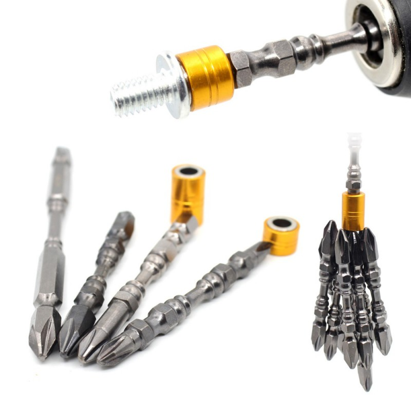 1Pcs 1/4 65/110MM Magnetic Cross Head Screwdriver Bit Double Head Electric Screwdriver Set Hardness Phillips Screw Driver
