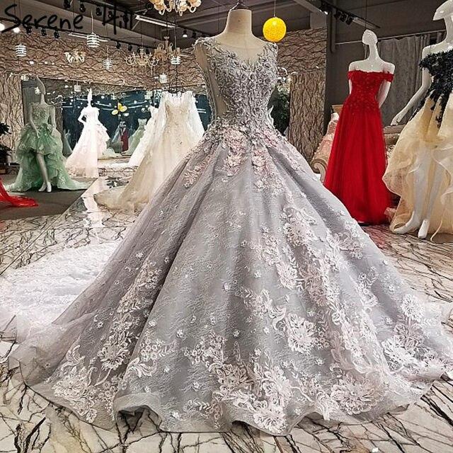 Online-Shop Grau High-end Luxus Fashion Sexy Brautkleider Spitze ...