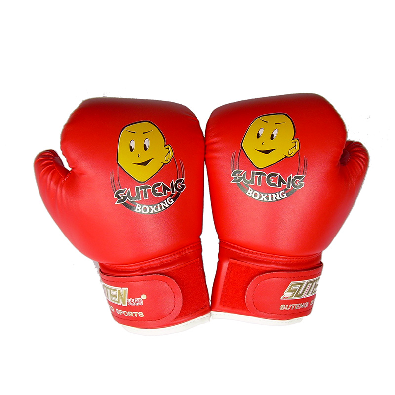 New Child 1 Pair Durable Boxing Sport Gloves Cartoon Sparring Kick Fight Gloves Mittens Training Fists PU Leather Muay Sandbag
