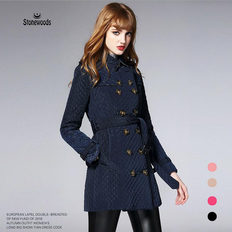 Winter Jacket Women Basic Coats Plus Size Women Clothing Ladies Coats Diamond lattice Ukraine Winter Coat Womens Quilted Coat